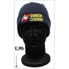 Berretto Zuccotto Papalina Blu con Ricamo Guardia Costiera  Art.TUS-3