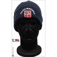 Berretto Zuccotto Papalina Watch Cap Invernale con Ricamo Polizia Municipale Regione Toscana Art.CP-4