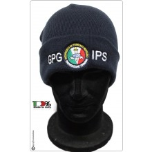 Berretto Zuccotto Papalina Watch Cap Invernale con Ricamo GPG IPS Prevenzione Crimine  Art.CP-GPG-IPS