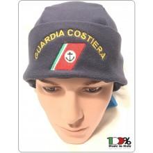 Berretto Cuffia Tonda Blu Nevy Papalina in Micropile Pile Climi Freddi Guardia Cosiera Art.NSD-BRK-9
