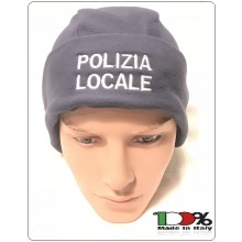 Berretto Cuffia Tonda Blu Nevy Papalina in Micropile Pile Climi Freddi Polizia Locale Art.NSD-BRK-8