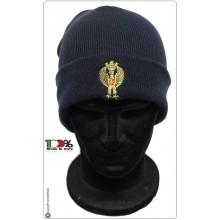 Berretto Papalina Cuffia Watch Cap Zuccotto Ricamo Blu Nevy Polizia di Stato PS  Art.TUS-27