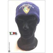 Berretto Zuccotto Papalina Watch Cap Invernale con Ricamo Polizia Locale Nazionale Art.CAP-PLN