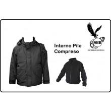 Giacca Giubbino Parka Nero con Pile Interno U.S. Cappuccio Fisso Nuova SBB Militare Vigilanza Tempo Libero Art.3106