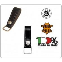 Passante o Porta Chiavi Vega Holster Italia Cuoio con Anello Quadrato da Cinturone Art.1V03