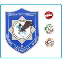Patch Toppa con Velcro Plastificata Polizia Penitenziaria Gruppo operativo Mobile Art.T-PPGOM