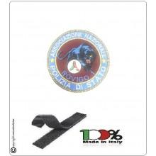 Patch Toppa con Velcro Ricamo a Macchina Associazione Nazionale Polizia pantera + Protezione Civile ROVIGO  Art.NSD-ANPS-2