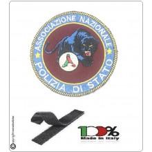 Patch Toppa con Velcro Ricamo a Macchina Associazione Nazionale Polizia Pantera + Protezione Civile Art.NSD-ANPS-3