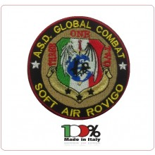 Patch Ricamata con Velcro A.S.D.Global Combat Soft Air Art.NSD-GC