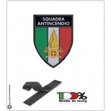 Patch Toppa con Velcro Ricamo a Macchina Squadra Antincendio Art.NSD-ANTI-10