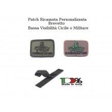 Patch Brevetto Sommozzatore Militare Personalizzato Con Nome o Numero Brevetto  Art.NSD-S1