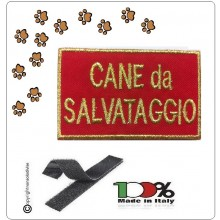 Patch Toppa Ricamata Cane Da Salvataggio con Velcro 118 Emergenza Soccorso Art.NSD-C-SAL