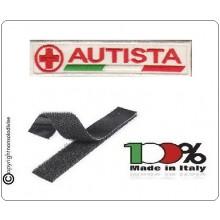 Patch Ricamata Croce Rossa Autista con Velcro Art.NSD-CRI1