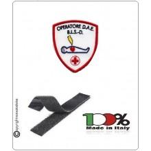 Patch Toppa Scudetto  Ricamata  Operatore DAE BLS D Croce Rossa Italiana Art.DAE-24