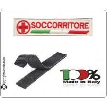 Patch Ricamata Croce Rossa Soccorritoire con Velcro Art.NSD-CRI3