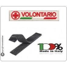 Patch Ricamata Croce Rossa Volontario con Velcro Art.NSD-CRI2