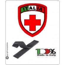 Patch Scudetto Croce Rossa Italiana Neutro Nuovo Modello  CRI Art.CRI-NEU