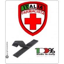 Patch Scudetto Croce Rossa Italiana Farmacista Nuovo Modello  CRI Art.CRI-FA