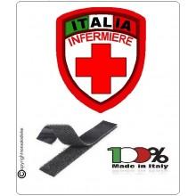 Patch Scudetto Croce Rossa Italiana Infermiere Nuovo Modello  CRI Art.CRI-INF