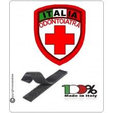 Patch Scudetto Croce Rossa Italiana Odontoiatra Nuovo Modello  CRI Art.CRI-OD