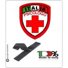 Patch Scudetto Croce Rossa Italiana Psicologo Nuovo Modello  CRI Art.CRI-PS