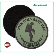 Patch Gommata con Velcro 3D PVC U.S. NAVISEALS The Only Easy Day  Art.444130-3538