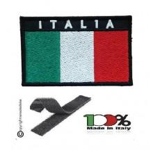 Patch Toppa Ricamata Rettangolare con Velcro 8.00x5.00 Italia Art. ITAL-R