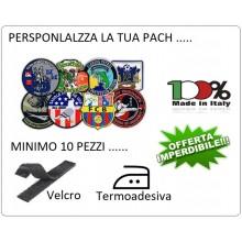 Patch Toppa Personalizza Riproduciamo Fedelmente il File Inviato Sport Caccia Calcio Pesca Soft air ecc... Art.PER-1