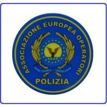 Patch Gommata A.E.O.P. Associazione Europea Operatori di Polizia con Velcro  Art.NSD-AEOP-GO