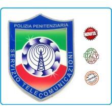 Adesivo o Vetrofania Polizia Penitenziaria Sevizio Telecomunicazioni  cm 7.00x10.00 Art.PP-T-A4