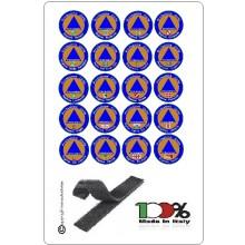 Patch Toppa Ricamata con Velcro cm 8.50  Protezione Civile Tutte le Regioni Italiane  Art PC-ITALIA