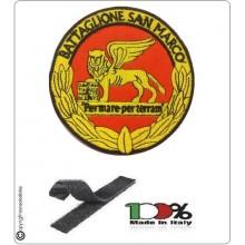 Patch Toppa Ricamata con Velcro Battaglione San Marco Lagunari Marina Militare Art.BTGSM