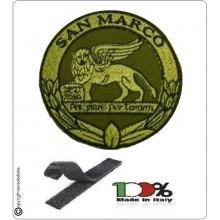 Patch Toppa Bassa Visibilità Ricamata con Velcro Battaglione San Marco Lagunari Art.BTGSMBV
