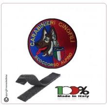Patch Toppa Ricamata con Velcro Carabinieri Cinofili Soccorso Alpino Art.NSD-CCSA