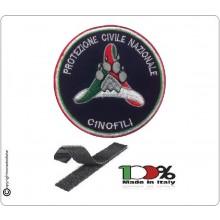 Patch Toppa Ricamata Protezione Civile Cinofili con Velcro cm 5 Art.NSD-PC-C5