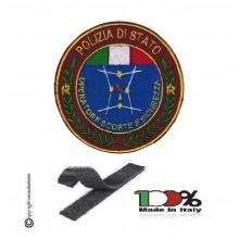 Toppa Patch Ricamata con Velcro Polizia Operatore Scorte e Sicurezza Art.PS-OSES