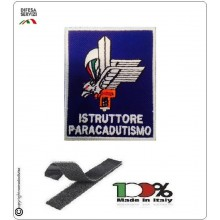 Patch Toppa Ricamata con Velcro Istruttore di Paracadutismo Folgore Parà Art.IST-PAR