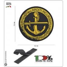 Toppa 3D PVC Arditi Incursori Marina Militare Italiana Tridimensionale con Velcro Art.444130-5381