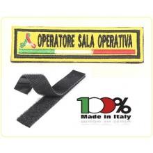Patch Ricamo a Macchina Con Velcro Protezione Civile OPERATORE SALA OPERATIVA Art.NSD-PC11