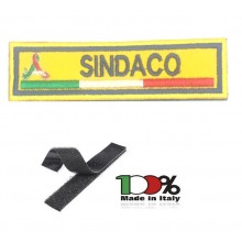 Patch Toppa Ricamo a Macchina Con Velcro Protezione Civile SINDACO Art.NSD-PC-S