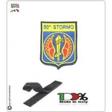Toppa Patch Ricamata a Macchina con Velcro 50° Stormo Aeronautica Militare Art.EU068