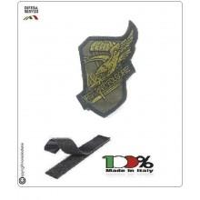 Patch Toppa Ricamata con Velcro Folgore Scudetto 186 Reggimento Verde OD Art.P-T-4