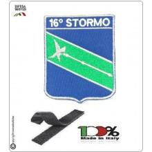 Patch Toppa Ricamata con velcro Aeronautica Militare 16° Stormo Art.16-S