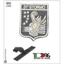 Patch Toppa Ricamata con velcro Aeronautica Militare 31° Stormo Art.31-S