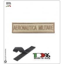 Patch Toppa Ricamata con Velcro Aeronautica Militare da Uniforme SABBIA TAN  Art.AM-S