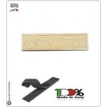 Patch Toppa Ricamata con Velcro Aeronautica da Uniforme SABBIA TAN Art.A-S