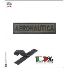 Patch Toppa Ricamata con Velcro Aeronautica da Uniforme VERDE OD Art.A-V