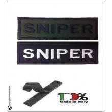 Patch Toppa Lineare Ricamata con Velcro Sniper Art.NSD-R16