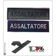Patch Toppa Lineare Ricamata con Velcro Assaltatore Art.NSD-R12