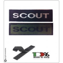 Patch Toppa Lineare Ricamata con Velcro SOUT Art.NSD-R11